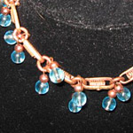 Blue Copper Bracelet 8 in.